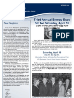 Cutler Spring 2011 Newsletter