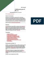 Especificación de Referencia para el HTML 3 2