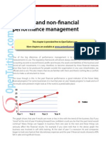 Financial vs non financial performance management