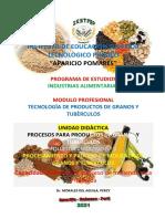 Material educativo-Procesamiento y proceso de molienda de granos y tuberculos