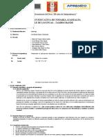 1. PRIMERA EXPERIENCIAS DE APRENDIZAJE DE COMPETENCIAS INTEGRADAS DE PRIMERO