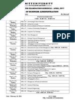 4th sem schedule