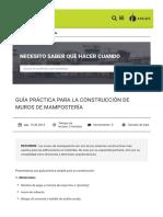 Guía Para La Construcción de Muros de Mampostería_ARGOS 360