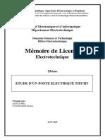 Etude d'Un Poste Electrique Ththt