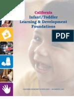 Infant/Toddler Learning Development Foundations (California Dept. of ED)