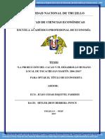 Tesis Estudio de La Economia de La Produccion Del Cacao