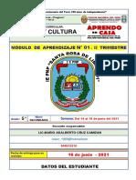 MODULO 01 - II TRIM. - ARTE y CULTURA - 5° SEC.