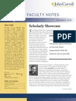 John Carroll University Faculty Notes December 2008
