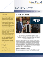 John Carroll University Faculty Notes December 2009