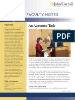John Carroll University Faculty Notes October 2009