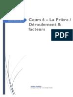 Cours 6 Sur La Prière