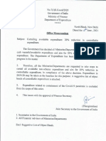 Finance ministry circular on avoidable expenditure