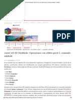 AutoCAD 3D Modelado_ Operaciones con sólidos parte 2, comando solidedit - MVBlog