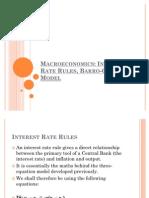 Interest Rate Rules, Barro-Gordon Model