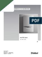 VAILLANT Istruzioni Installazione Manutenzione Caldaia Murale a Gas EcoTEC Plus VM VMW