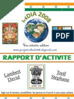 Rapport d'activité Projetindia2008 pdf
