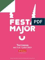 Programa de la Festa Major de Terrassa 2021