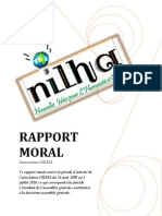 Rapport Moral Exercice 2009-2010 Association NILHA