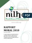 Rapport moral 2010 (association NILHA)