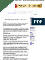Exercícios para estimular a criatividade - Artigo Informativo - PoloMercantil