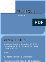 UTPT 2011 Sci-Tech Quiz Finals
