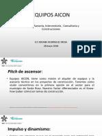 Modelo presentación pitch de emprendimiento