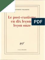 Le Post-exotisme en Dix Leçons, Leçon Onze by Volodine Antoine