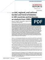 Global, Regional, And National Burden and Trend of Diabetes in 195 Countries and Territories