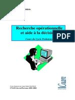 Recherche Opérationnelle Et Aide à La Décision - Cours Du Cycle B Du Cnam