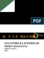 UTPT 2011 Sport Quiz Prelim