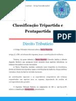 Classificação Tripartida e Pentapartida