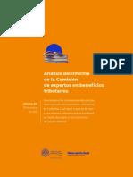 Análisis del Informe Comisión de Expertos en beneficios tributarios
