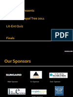 UTPT 2011 Lit-Ent Quiz Finals