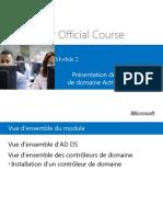 Chapitre 02 - Présentation Des Services deDomaine Active Directory