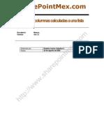 Manual - Agregar columnas calculadas a una lista