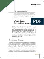 Afrique Orient Des Relations Explorer