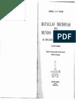 Batallas Decisivas Del Mundo Occidental (Tomo I) - Fuller
