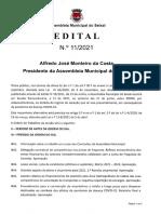 Ordem de Trabalhos e documentação - 1ª Sessão Extraordinária 2021 (21/06/2021)