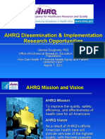 AHRQ Dissemination & Implementation Research Opportunities, Denise Dougherty, PhD