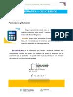 1°AÑO_MATEMÁTICA_POTENCIA Y RAÍZ