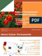 Kaiser PermanenteKP HealthConnect, Terhilda Garrido