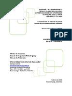 Primer informe de avance - Caracterizacion MP y análisis TT