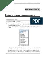 Práctica 14 Cálculo de Esfuerzos - Listados y Gráficas