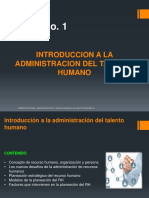 Introducción Administracion del talento humano - primera clase