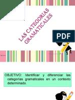 PRESENTACIÓN CATEGORIAS GRAMATICALES