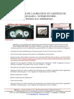 procedure de calibration du SARL - EN15000 - avec stabilisateurs