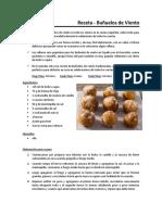 Receta - Buñuelos de Viento