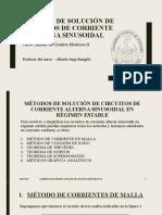 METODOS DE SOLUCIÓN DE CIRCUITOS DE CORRIENTE ALTERNA 01072020