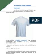 Comprar Camisetas en Grandes Cantidades