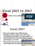 Excel 2003 and 2007